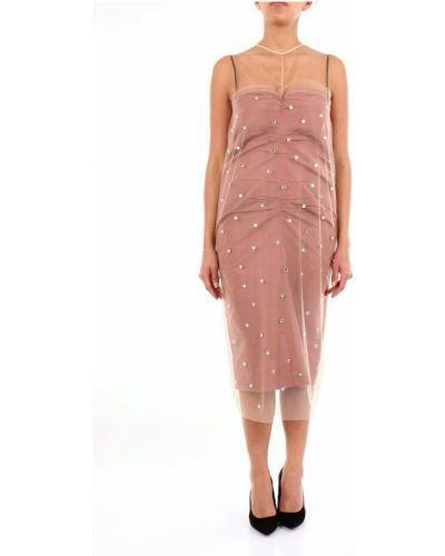Różowa sukienka długa N°21