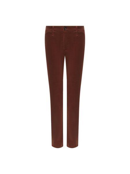 Облегающие коричневые джинсы вельветовые эластичные Ag