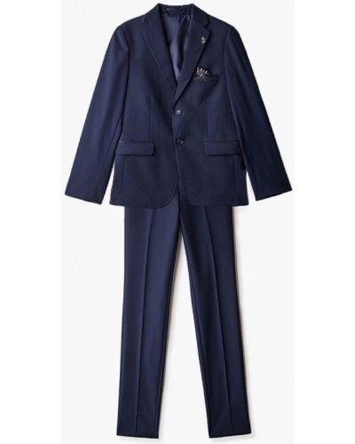 Синий классический костюм Mili
