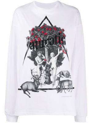 T-shirt z printem - biała Christopher Kane
