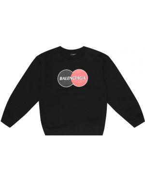 Bluza z kapturem czarny Balenciaga Kids