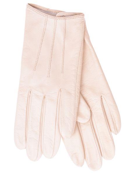 Бежевые кожаные перчатки Parola