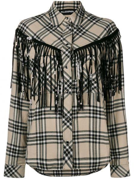 Рубашка с длинным рукавом в полоску под запонки Filles A Papa