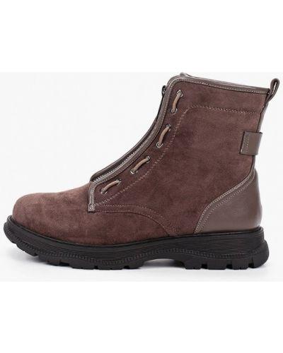 Текстильные коричневые ботинки Lolli L Polli