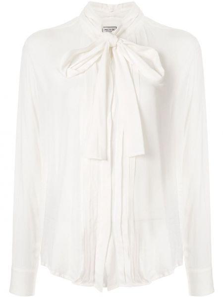 Рубашка с длинным рукавом белая в полоску Paul & Joe