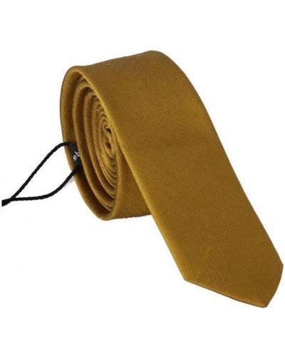 Żółty krawat Dolce And Gabbana