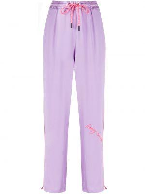 Спортивные брюки с карманами фиолетовые Iceberg