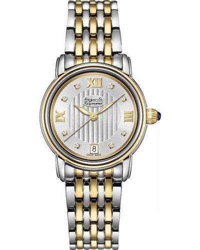Кварцевые часы водонепроницаемые с бриллиантом с камнями Auguste Reymond