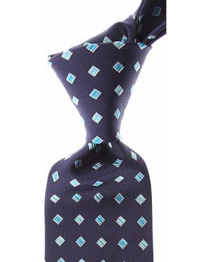 Niebieski krawat z jedwabiu Gianni Versace