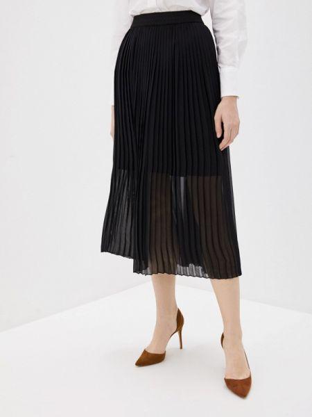 Плиссированная юбка осенняя черная Ovs