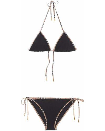 Czarny bikini z nylonu Burberry
