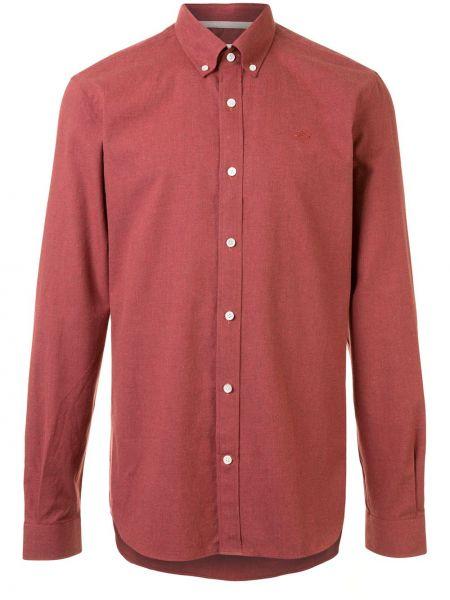 Koszula bawełniana z haftem z długimi rękawami Gieves & Hawkes
