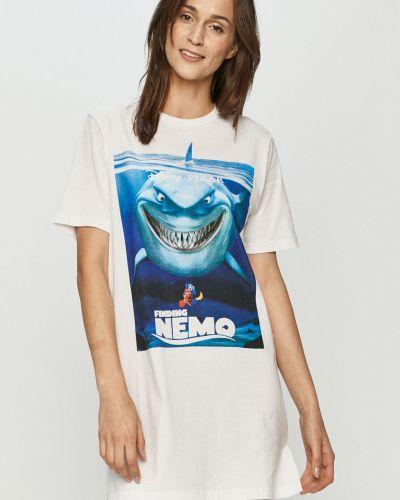 Piżama z koszulą bawełniana krótki rękaw z printem Undiz