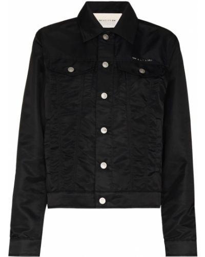 Черная длинная куртка с воротником с карманами 1017 Alyx 9sm