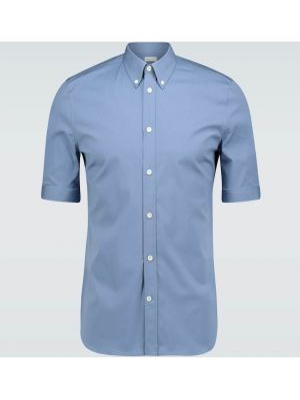 Koszula klasyczna niebieski z kwiatowym nadrukiem Alexander Mcqueen