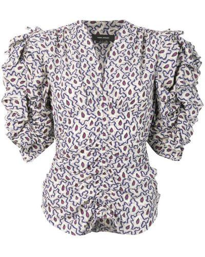 Блузка с рюшами бежевый Isabel Marant
