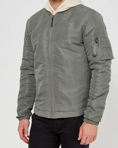 Утепленная куртка серый Puma