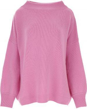 Różowy sweter wełniany z długimi rękawami Fuzzi