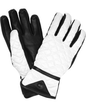 Кожаные перчатки с мехом белый Bogner