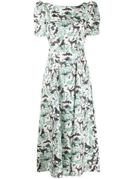 Платье мини миди с цветочным принтом Saloni