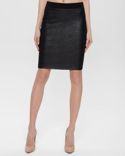 Кожаная юбка - черная Conte