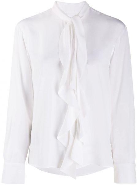 Белая рубашка с манжетами на пуговицах круглая Barba