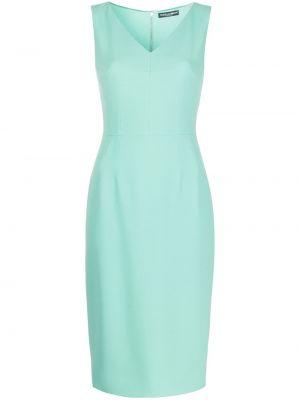Прямое приталенное платье с V-образным вырезом без рукавов Dolce & Gabbana