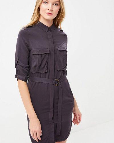 Серое платье рубашка Jennyfer