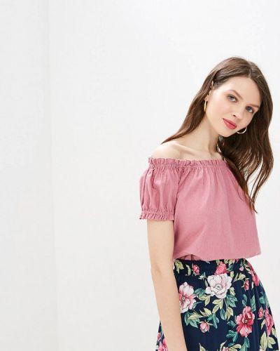 Блузка с открытыми плечами розовая весенний Vero Moda