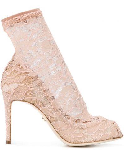Бежевые носки хлопковые Dolce & Gabbana