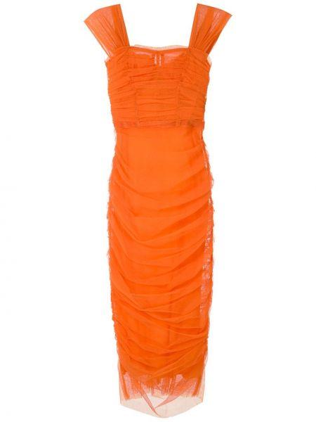 Платье мини миди со складками Dolce & Gabbana