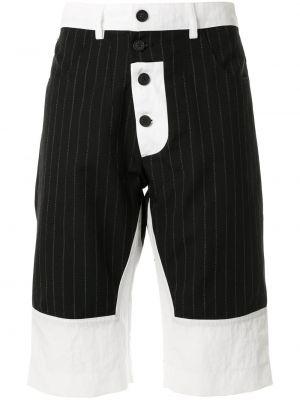 Черные шорты с карманами на пуговицах Delada