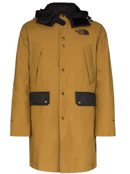 Czarny płaszcz wełniany z kapturem The North Face Black Series