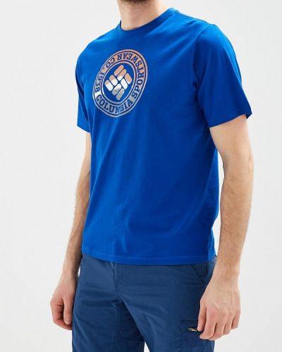 Синяя футболка Columbia