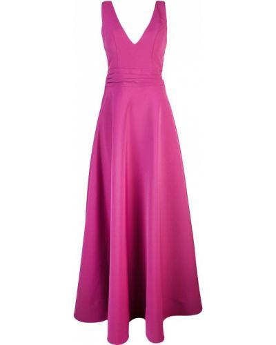 Расклешенное приталенное розовое вечернее платье на молнии Nha Khanh