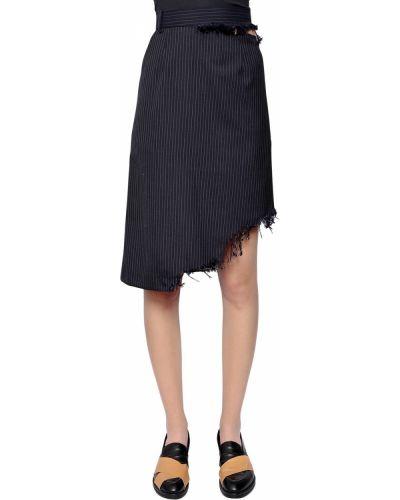 Spódnica asymetryczna wełniana Facetasm