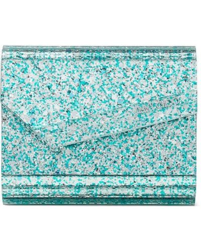 Niebieska kopertówka srebrna Jimmy Choo