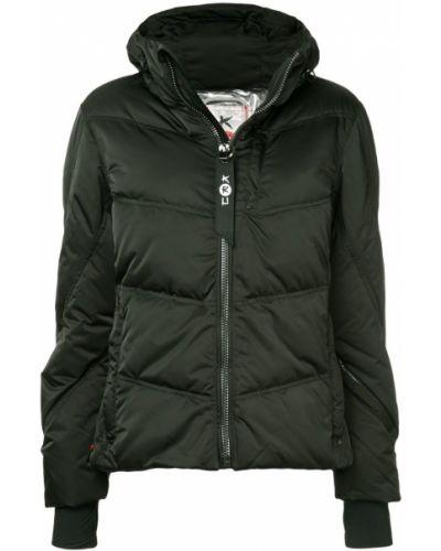 Черная сатиновая спортивная куртка Kru