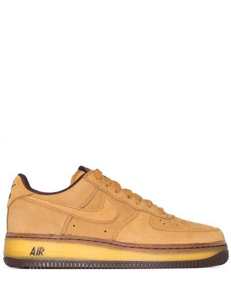 Skórzany ażurowy żółty top zasznurować Nike