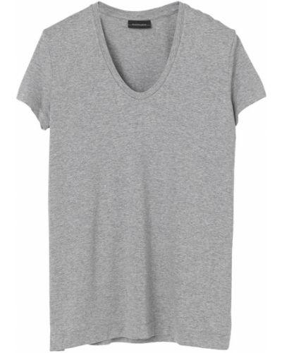 Szary t-shirt na co dzień oversize By Malene Birger