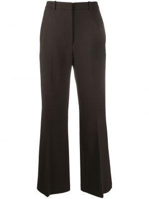 Шерстяная коричневая юбка с карманами Kenzo