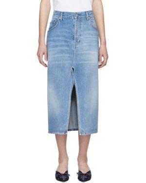 Юбка миди джинсовая синяя Balenciaga