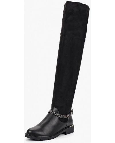 Ботфорты на каблуке кожаные замшевые Max Shoes