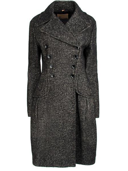 Шерстяное пальто - серое Galliano