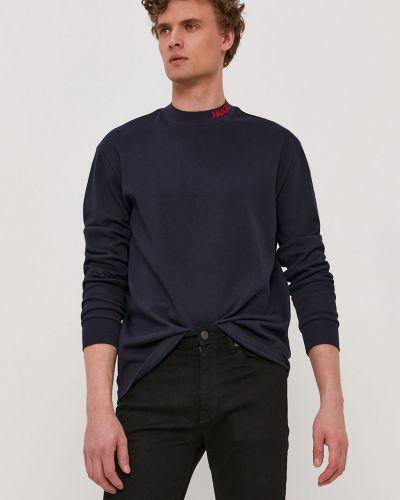 Bluza z kapturem bawełniana granatowa Hugo