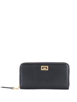 Czarny portfel skórzany Givenchy