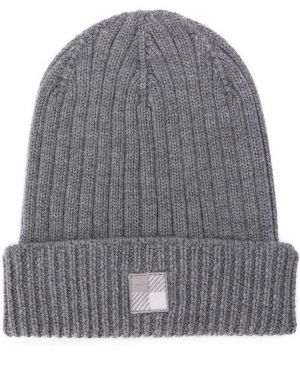 Prążkowany czapka beanie wełniany z haftem Woolrich Kids