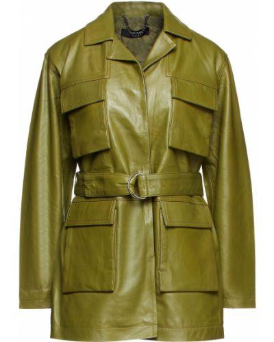 Зеленая кожаная куртка Muubaa