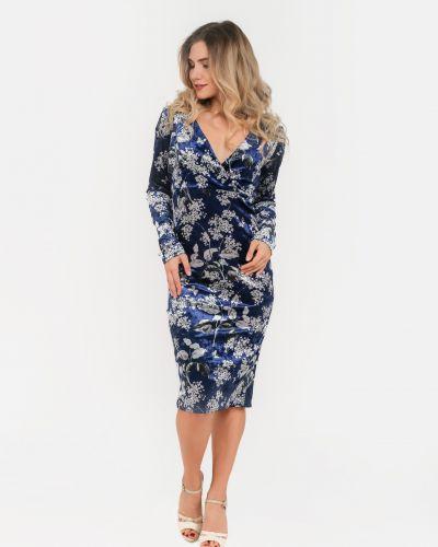 Велюровое синее платье Modniy Oazis