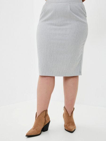 Белая юбка карандаш с рукавом 3/4 Le Monique